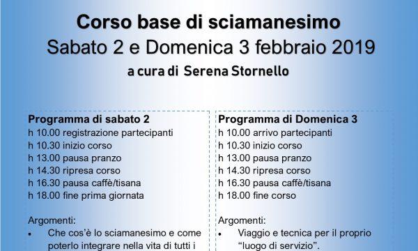 Corso Base di Sciamanesimo 2/3 febbraio 2019
