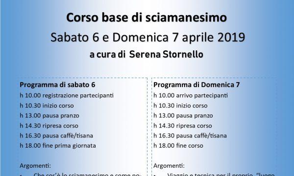 Corso base di Sciamanesimo 6/7 aprile 2019