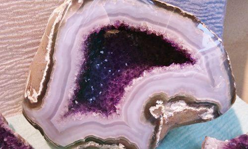 Geode in Agata e Ametista