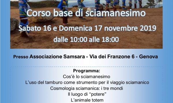Corso Base Sciamanesimo del 16/17 novembre 2019